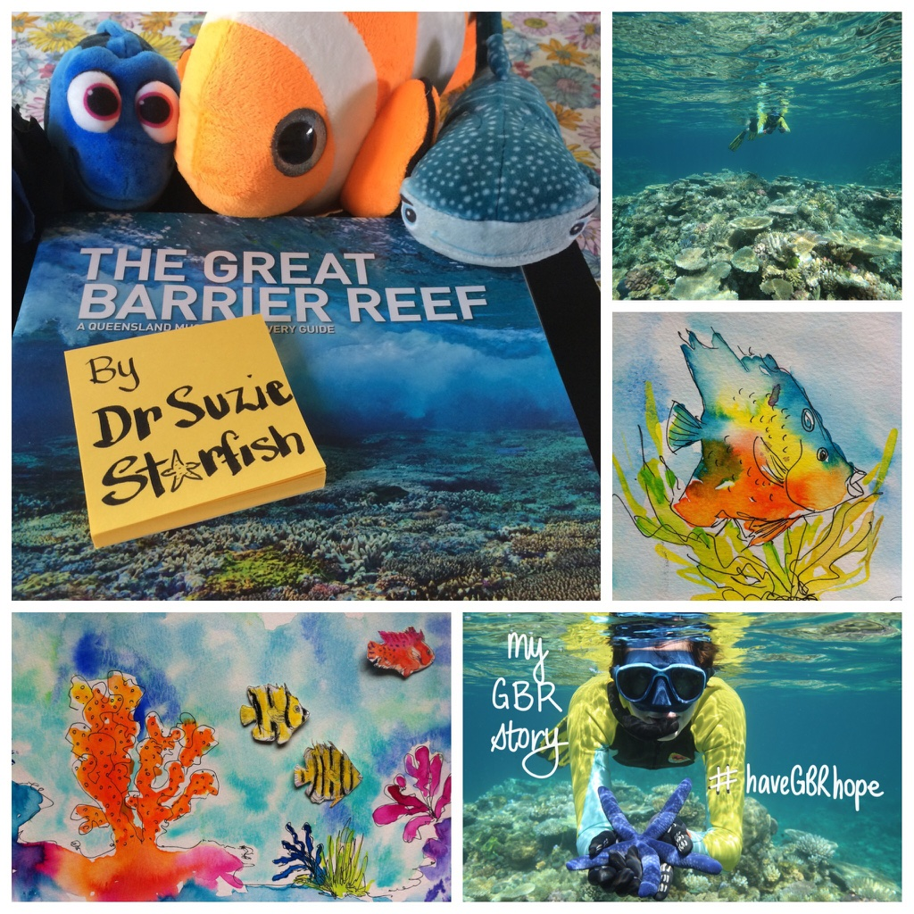 My Alter Ego Dr Suzie Starfish Will Be Writing, Illustrating And Publishing  Her First Kids Picture Book About The Great Barrier Reef With ...